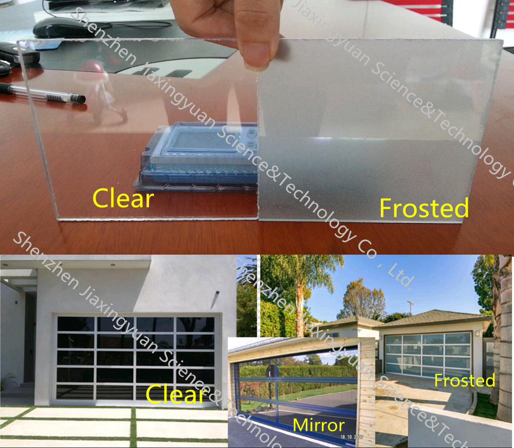 High Grade Garage Door / Residential Aluminum Glass Garage door