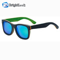 Most popular skateboard four colors multicolor sun glasses wood