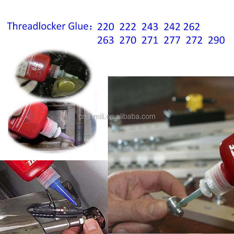High Strength Super Glue Threadlocker Glue Instant Glue Adhesives Sealants 243 242 262 263 270 271 277 290 50ml/pc