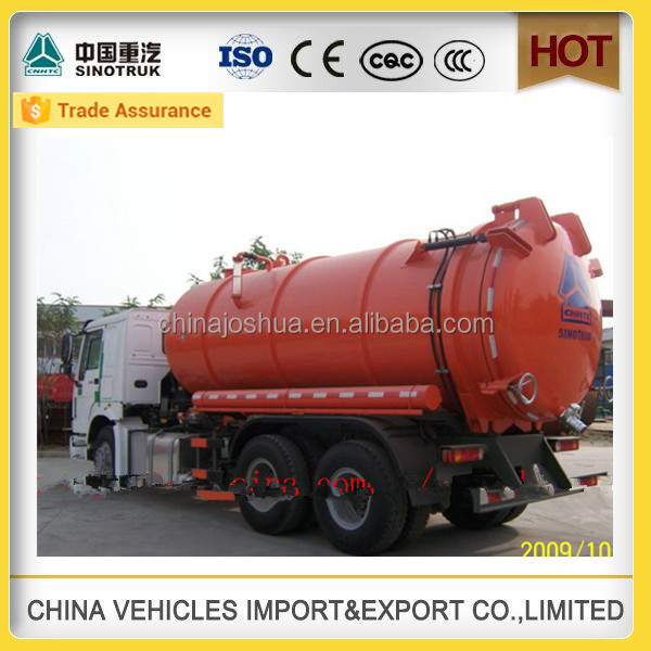 sinotruk special tanker truck to Suction hot sale