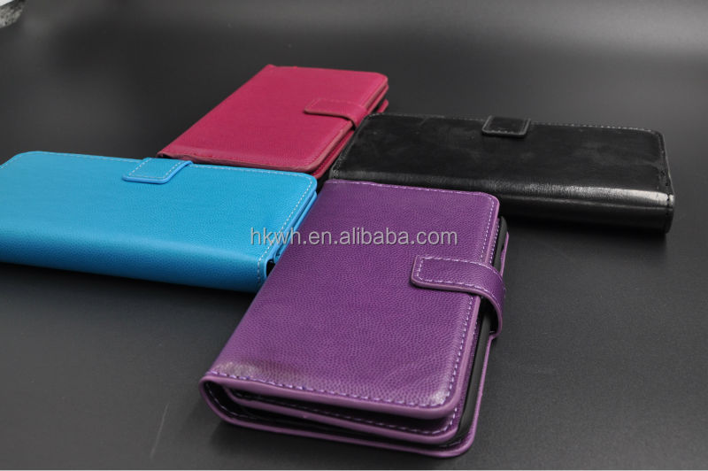 Real leather Metallic PU Leather Flip Slim Magnetic Mobile Phone Cellphone Cases With TPU for new i-6