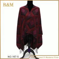 Professional factory supply custom design winter wear wool shawl with good price