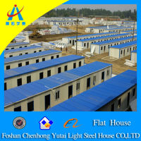 China high strength flat roof prefab house(CHYT-F078)