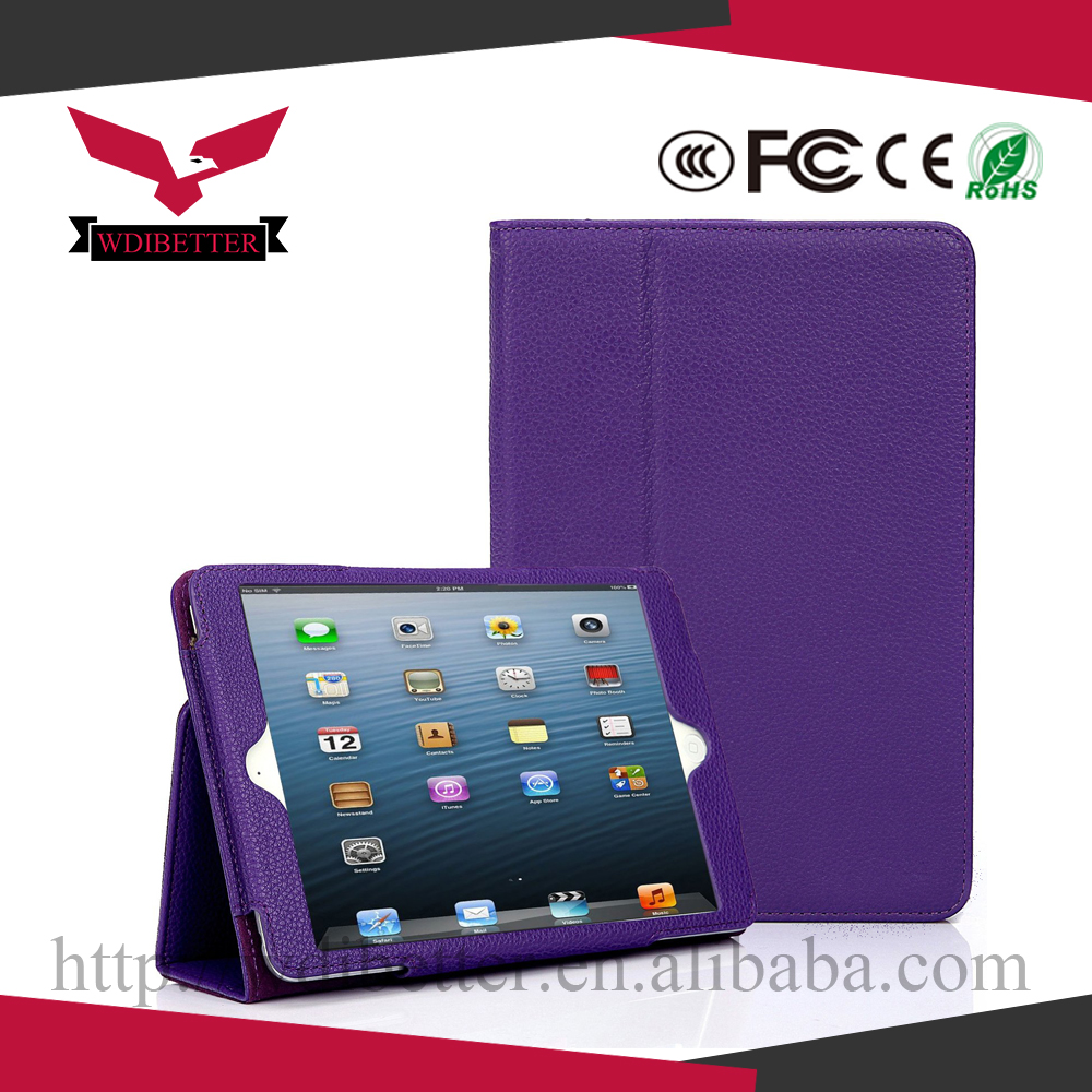 for Ipad Mini 2 Retina Smart Cover Leather Case, 4 Folding Flip Stand Cover