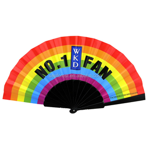 New Product Customized Rainbow Folding Hand Fans