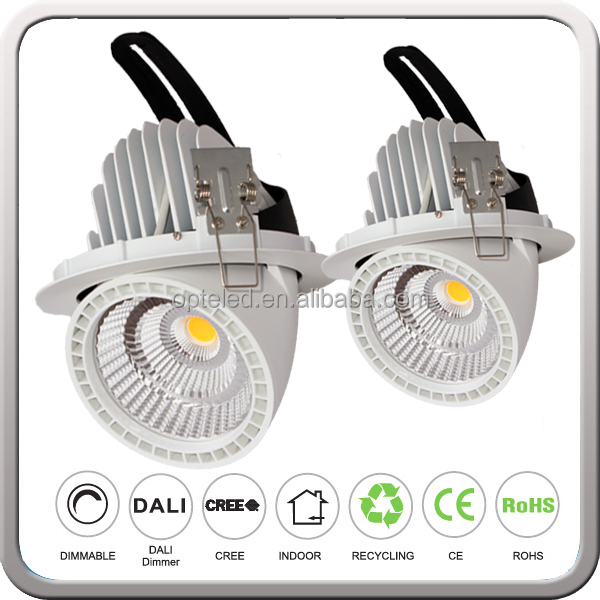 360 Degree Down Light Revolve Swivel LED Downlight Ceiling Recessed With CREE COB CRI85