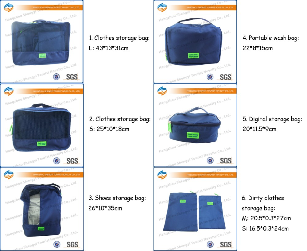 High Quality Travel Packing Cubes Set