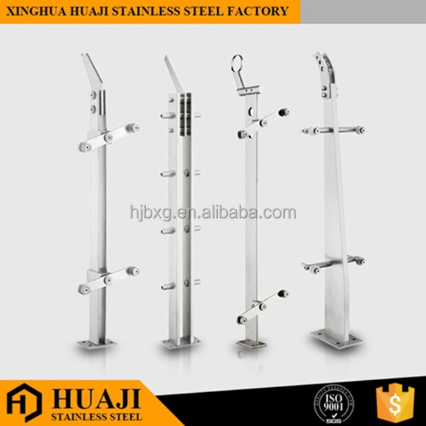 Handrail Fitting Wholesale Cheap Stainless Steel Glass Balustrade