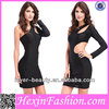 Wholesale Beauty Erotic Simple Black Bodycon Bandage Dress