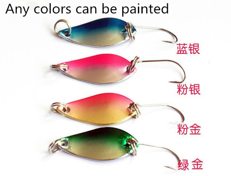 Free Samples !!! Chinese Hot Sale Fishing Bait Metal Spoon Fishing Ice Lure