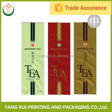 China Manufacturer OEM plastic aluminum tea bag,clear window tea bag,compound tea bag with ziplock
