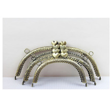 15cm/12.5cm/16.5cm/20cm heart-shaped head metal coin purse frames
