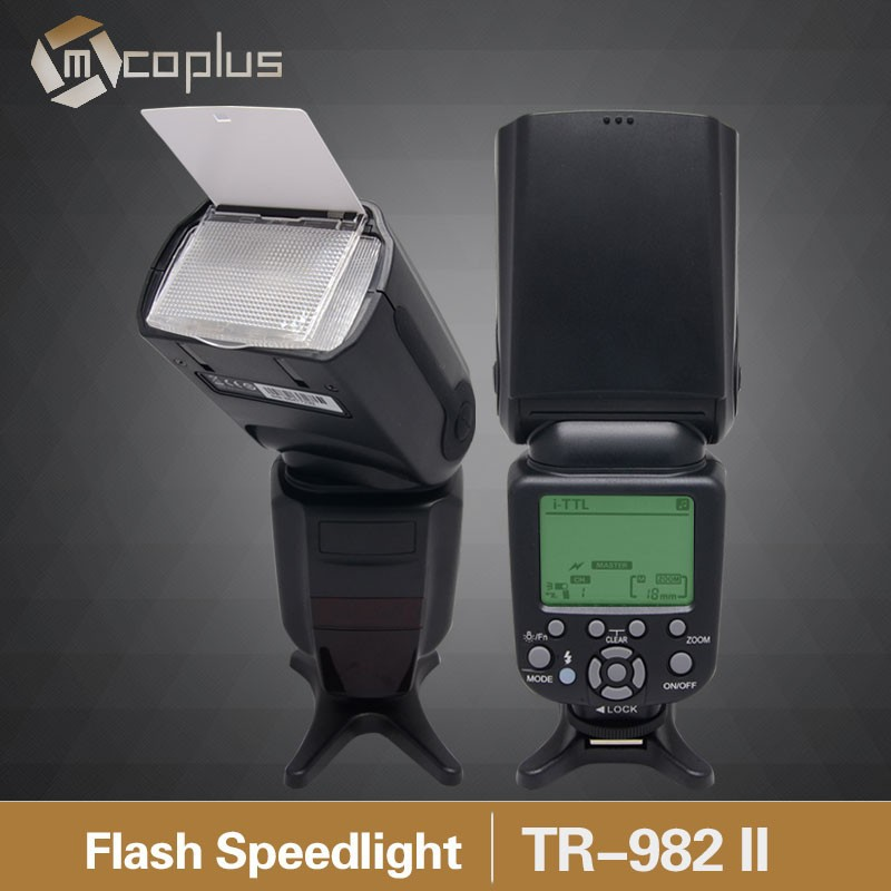 Mcoplus TR-982 II GN58 1/8000 HSS E-TTL Wireless Master Slave Flash Mode Speedlite for Canon 760D 7D 5D mark III 70D as 580EX II