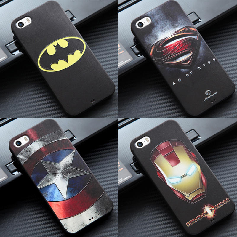 Marvel Superhero Super <strong>Man</strong> Avengers Mobile Phone Deadpool Soft Printed Cover for iPhone 5 5s 5c Case Batman Captain America Shie
