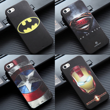 Marvel Superhero Super Man Avengers Mobile <strong>Phone</strong> Deadpool Soft Printed Cover for iPhone 5 5s 5c Case Batman Captain America Shie