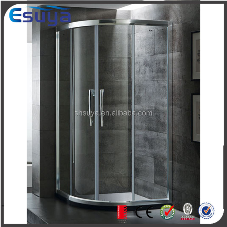 Shanghai SUYA 10mm curved type glass shower enclosure/shower screen for fat person
