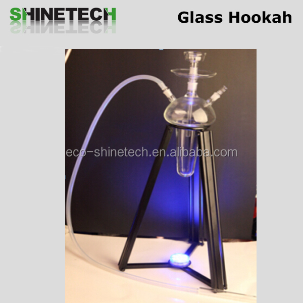 Wholesale clear glass hookah hookah with light LED fumo glass hookah