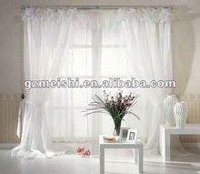 2012new stye new design 100% polyester white curtain