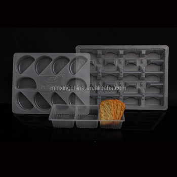 food grade plastic sweet packing tray with dividers