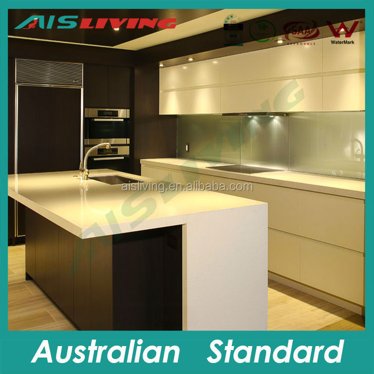 AIS_K98 wall hung kitchen cabinet, kitchen LED light, kitchen stone benchtop table