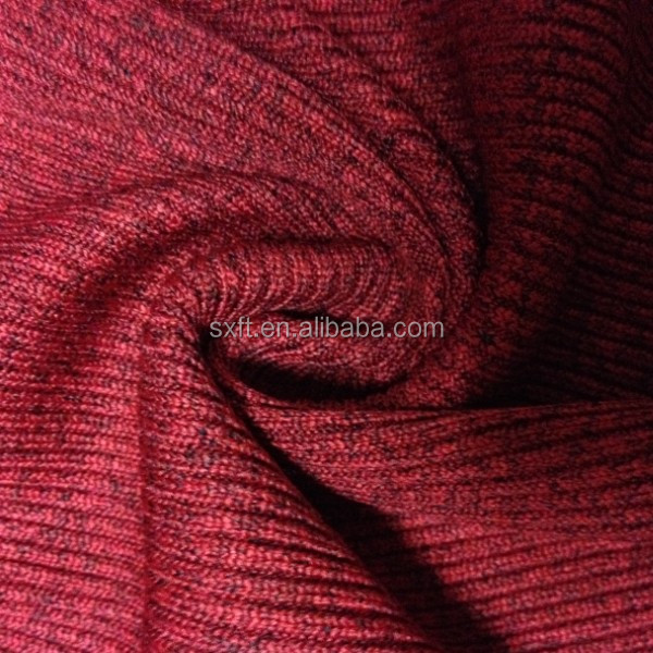 96% polyester 4% spandex yarn dye rib 2*2 knitted fabric