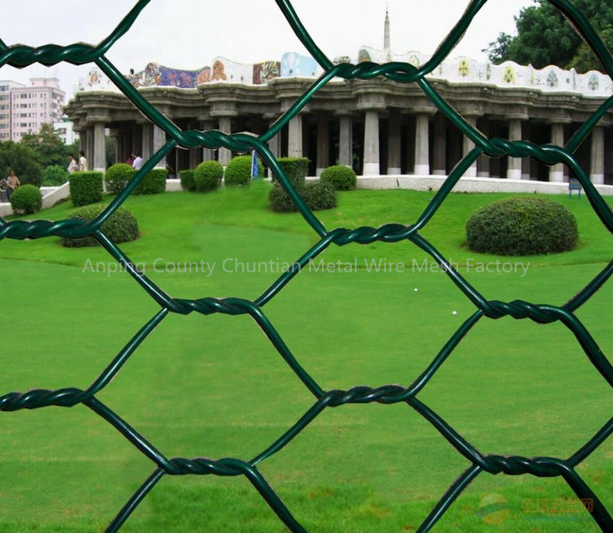 PVC Coated Chain Link Fence Used For Playground fence or Road Fence