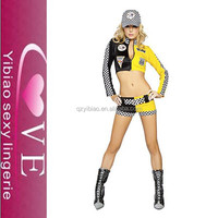 yellow -black Cheerleading uniform of spicy girl hot popular baseball players costumes