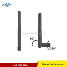 Factory Price Rubber Duck Foldable 2dbi gain usb adapter wifi antenna for Ralink