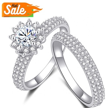 wholesale cheap prices custom latest design value jewelry women wedding promise couple diamond 925 sterling silver ring
