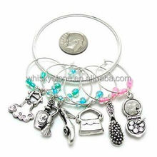 Zinc Alloy Ladies Accessories Theme Wine Charms