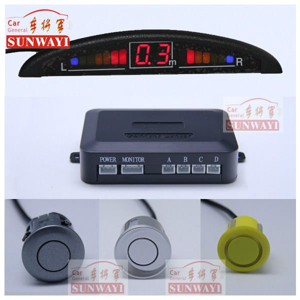 Car LED 4 Reverse Parking Sensors Car Reversing Aid Parking Guidance and Information System