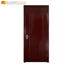 Customise solid parts wooden single door flower designs six panel oak interior doors swing