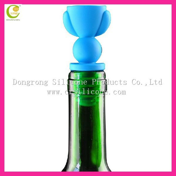 Any pantone colors silicone wine corks wholesale/wine bottle stoppers wholesale/wine bottle drop stopper