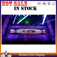 different events used wedding tv show and stage used Ultra Light & Thin outdoor for advertising rental P6.94mm led display