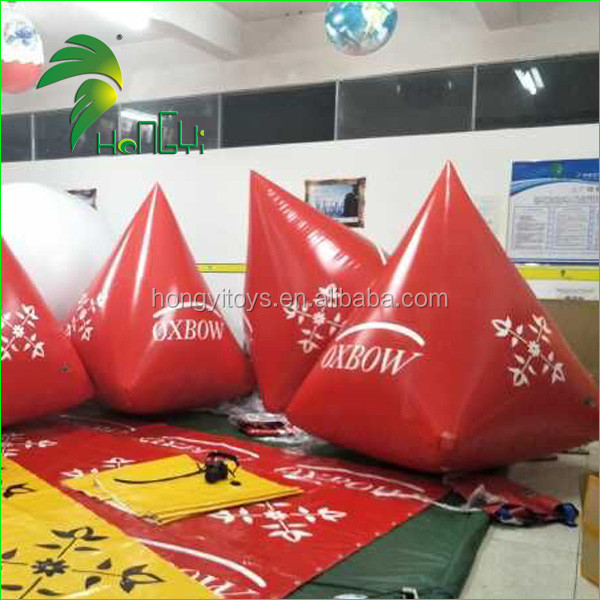 Customized PVC Inflatable Floating Buoy With Logo, Cone Shape Advertising Water Products Buoy For Water Games