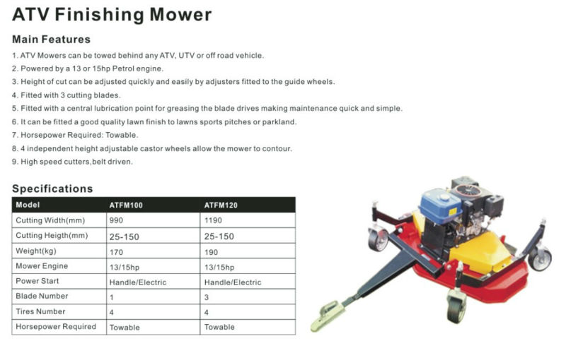 ATV Finishing Mower, Grass Mower