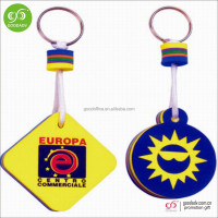 New products 2016 innovative product keyring colour decoration float eva keychain