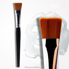 wholesale Professional Facial Nylon mask cosmetic brush with Cleaning brush Manufacturers selling maquillaje custom LOGO