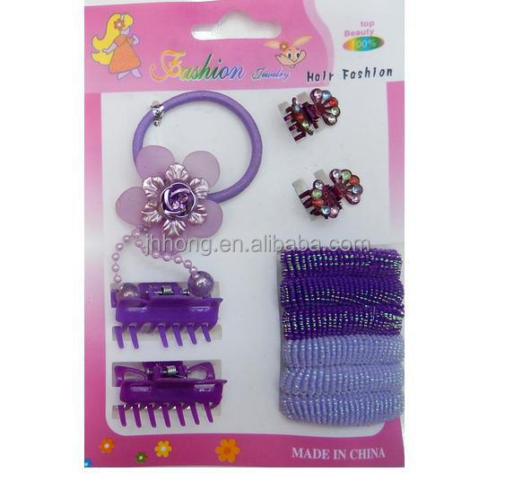New product children's hair suit with elastic band hair clips 2014