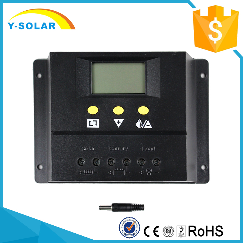 Y-SOLAR 60I 60A LCD Solar Charge Controller Lighting and Timer Control 12V 24V Solar Panel Battery PWM Controller