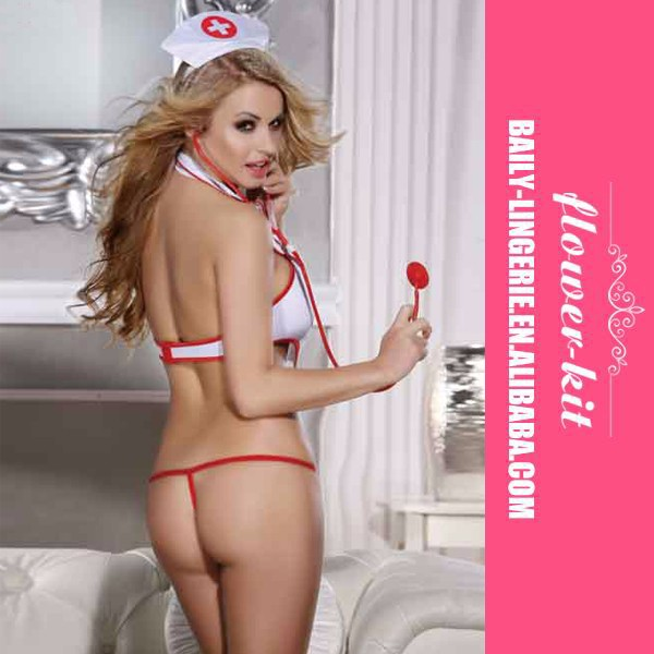 Hot Sexy Nurse Cosplay Costume Babydolls Erotic Teddy Lingerie