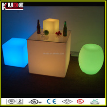 modern style battery supply LED light cube table for coffee