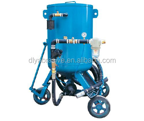 Portable wet sandblasting cabinet/rust remover machine