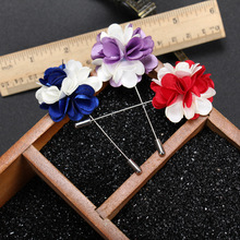 Suit Dress Decoration Blend Color flower brooch pin