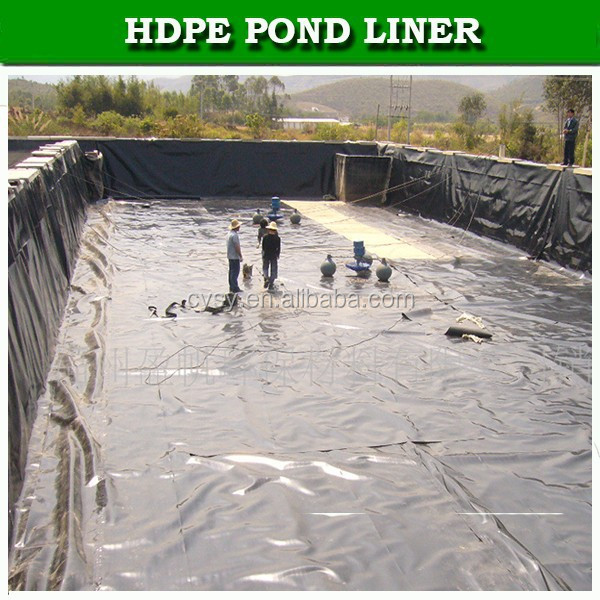 Hdpe Geomembrane Used Black Plastic Pond Liner For Fish