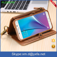 hot new products for 2016 FLOVEME purse case for samsung galaxy tab with 18 card slots metal ring