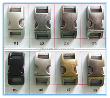 3/8 curved metal buckle,side release buckle for pet collars,metal dog buckle