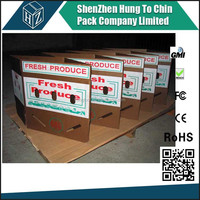 Fresh products transportation waterproof waxed vegetable carton shipping boxes