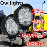 "Jeep, Cars, Auto Parts 48w LED Work Light 4"" 48w 12v 24v Off Road LED Head Lamp IP68"