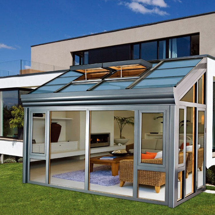 China factory new design aluminum glass garden sunroom